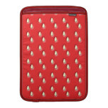 Red Strawberry Pattern. Sleeve For MacBook Air
