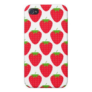 Red Strawberry Pern. Cover For iPhone 4