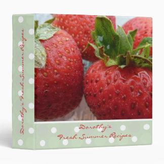 Red Strawberry Photo Recipe Binder