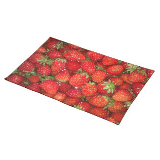 Red strawberry placemat Healthy food photography