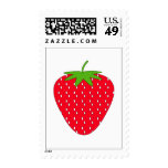 Red Strawberry. Postage Stamps