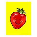 Red strawberry postcard