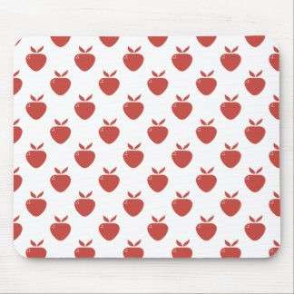 Red Strawberry Silhouette Mousepad