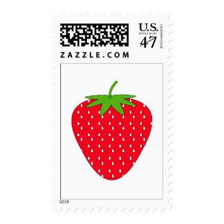 Red Strawberry. Stamp