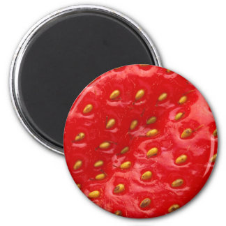Red Strawberry Texture 2 Inch Round Magnet