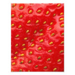 Red Strawberry Texture Photo Print