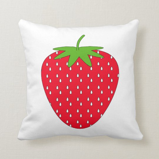 Red Strawberry. Throw Pillow