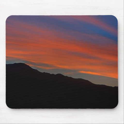 Red Streak Sunset Mouse Pad