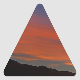 Red Streak Sunset Triangle Stickers