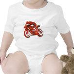 Red Streaks Embossed Motorcycle Racer Baby Creeper