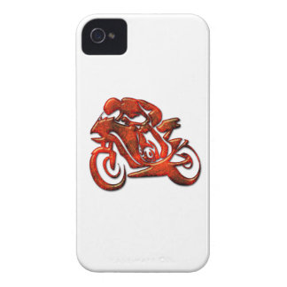 Red Streaks Embossed Motorcycle Racer iPhone 4 Case-Mate Cases