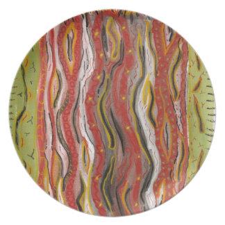 red streaks plate