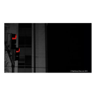 Red Street Light Double-Sided Standard Business Cards (Pack Of 100)