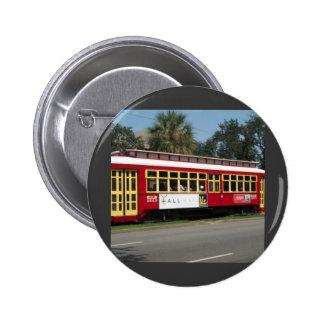 Red Streetcar Pin