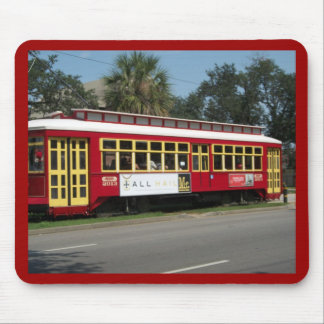 Red Streetcar Mouse Pad