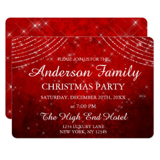 Red String Light Annual Christmas Party Invitation