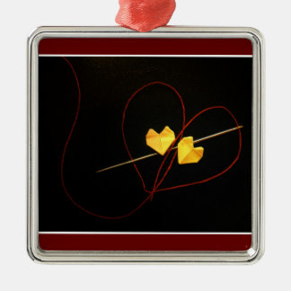 Red String of Fate Metal Ornament