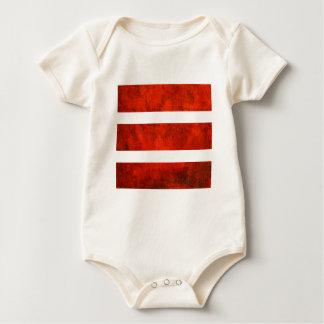 Red Stripe Baby Bodysuit