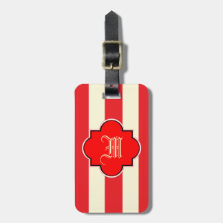 Red stripe bag tag