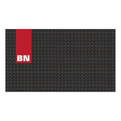 Red Stripe Black Tread Business Card