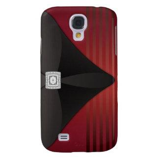 Red Stripe Black Velvet Diamond i Samsung S4 Case