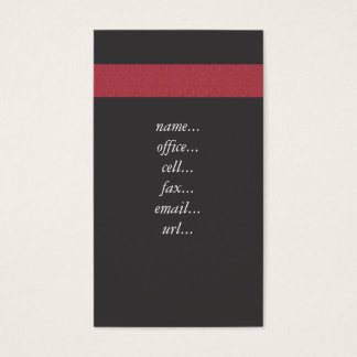 red stripe blk business card