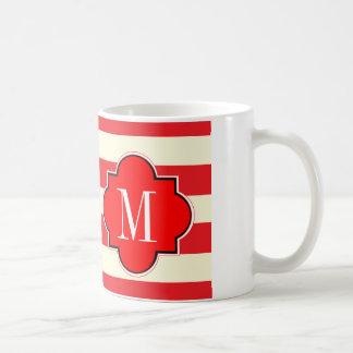 Red stripe coffee mug