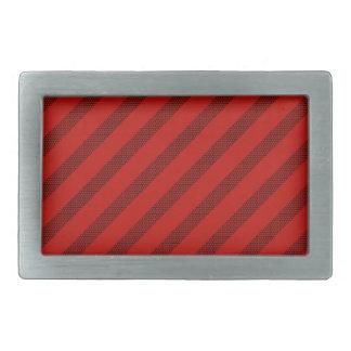 Red Stripe Dot Rectangle Buckle Belt Buckle