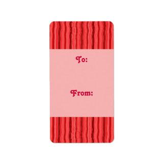 red stripe gift tag custom address labels