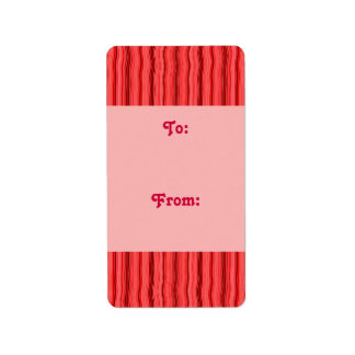 red stripe gift tag address label