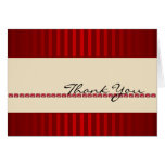 Red Stripe Ivory Band with Rubies Thank You card
