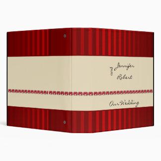 Red Stripe Ivory Band with Rubies Wedding Binder