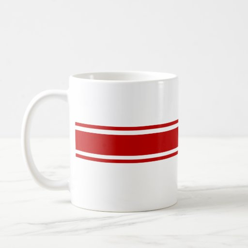Red Stripe Mug