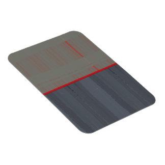 Red Stripe Rectangular Photo Magnet