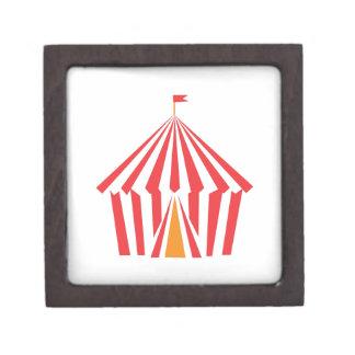 Red Stripe Tent Jewelry Box