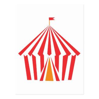 Red Stripe Tent Postcard