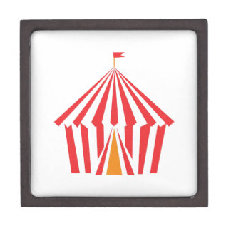 Red Stripe Tent Premium Trinket Boxes