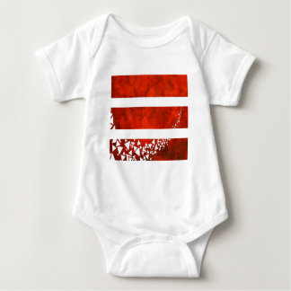 Red Stripe Triangle Baby Bodysuit
