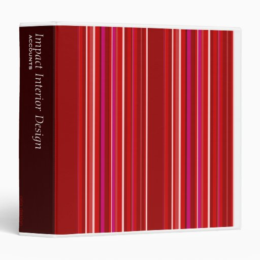Red Striped Binder