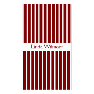Red Striped Business Card