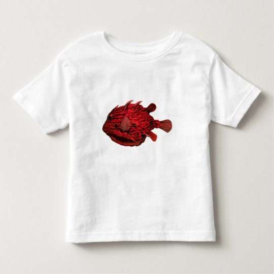 Red Striped Cowfish Toddler T-shirt