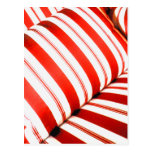 Red Striped Cushion Post Card