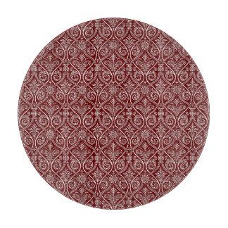 Red Striped Cutting Board