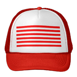 Red Striped Mesh Hats