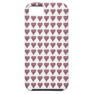 Red Striped Hearts – iPhone 5 Cover Case