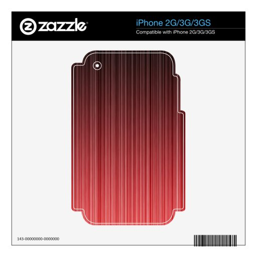 Red Striped iPhone 3G Decals