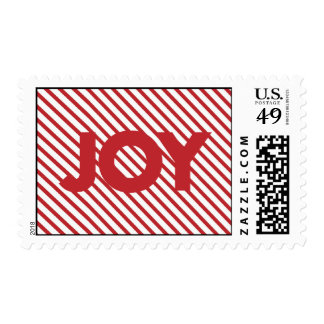 Red Striped Joy Christmas Stamps