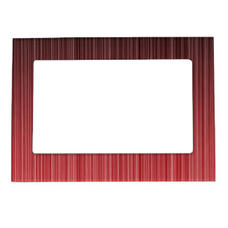 Red Striped Magnetic Photo Frame