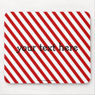 Red Striped Mousemats