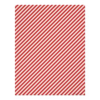 Red Striped Scrapbook Paper